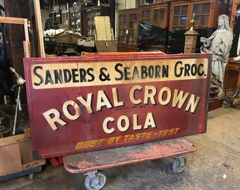 Antique RC Cola Advertising Sign Grocery Store Sign