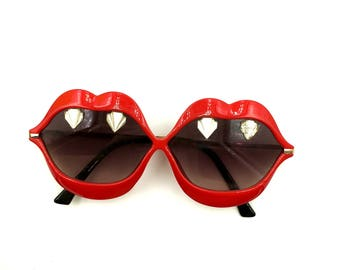 Vampire Sunglasses- embellished with Glass Art Deco cabs