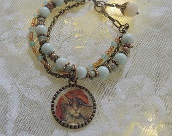 Madam Zenobia Bracelet,  Gypsy Bracelet, Amazonite Bracelet - REDUCED