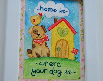 square dog house-home is where your dog is