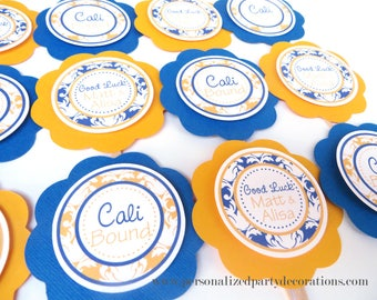 Going Away Party Decorations, Retirement Party Decorations, Going Away Party CUPCAKE TOPPERS, You Choose The Colors