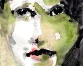 """PRINTABLE ART, Instant Decor, """"Innocent"""", Portrait Art, Contemporary Painting, Original Painting Print, Woman Portrait, Watercolor Portrait"""