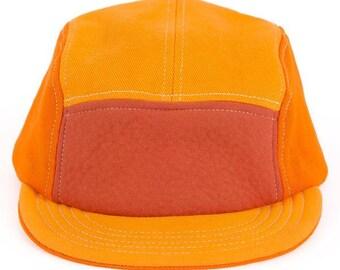 Orange Denim Velcro