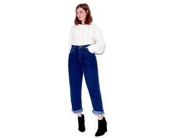 vintage WRANGLERS with original TAGS / unworn vintage deastock jeans wrangler jeans high waisted jeans mom jeans relaxed fit tapered jeans
