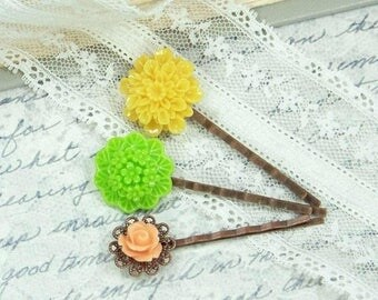 Summer Hair Pins Clearance Sale Flower Hair Pin Set Floral Bobby pin Clearance Hair Accessories