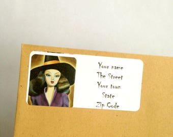 Witchy Woman Return Address Labels stickers to personalise your stationary gothic horror