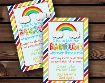 LDS Baptism Gift, For Baptism, LDS Baptism Rainbow, Baptism Print, Baptism Printable, Eight is Great, Primary Printable, LDS Primary