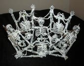Skeleton Crown / Tiara -- Original Halloween Art by Lori Gutierrez OOAK!!