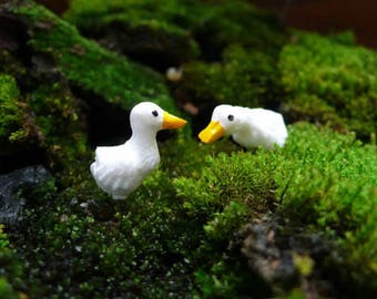 5 Tiny Duck/ Miniature Duck/ Duck Terrarium Accessories/ Fairy Garden Accessories