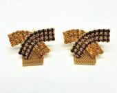 50% OFF Fabulous Rhinestone Mesh Wrap Vintage Cuff Links Cufflinks