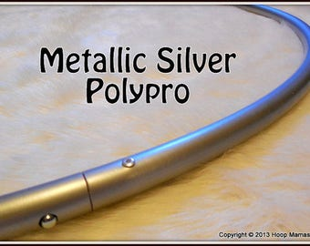"""SALE! Overstocked & Wholesale-Priced 'Metallic SiLVER' (3/4"""" OD) Polypro OR Minis Set. Push-Button Collapsible for Travel!"""