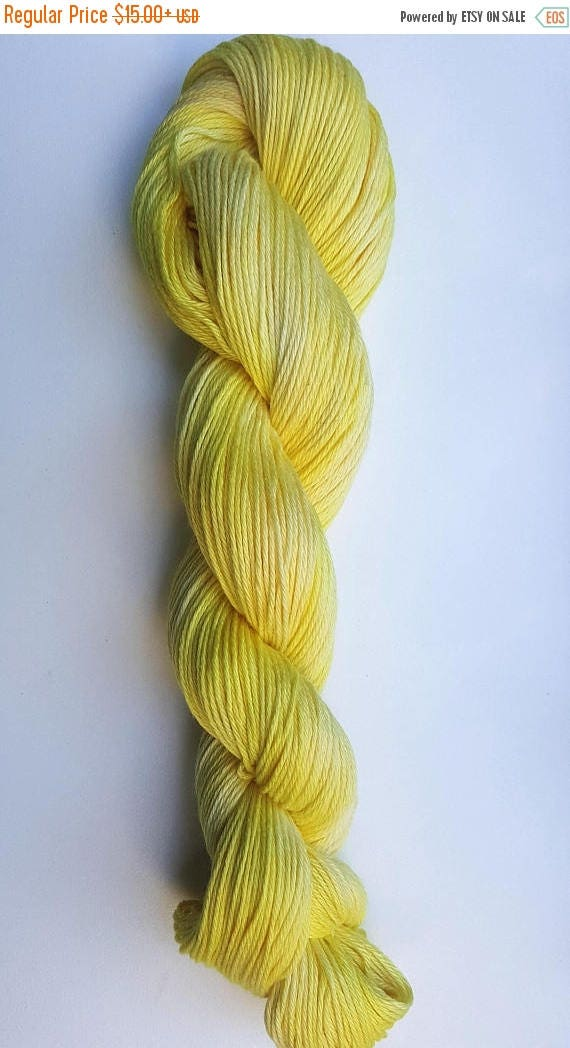 4th of July Sale Sunshine- 100% Organic Cotton, Hand Dyed, Solid Color, Hand Painted