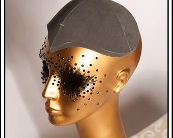 Large Fascinator Hat Base Black... Base For Headdress Hat Millinery Foam DIY