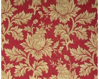 Antique Brocade French Wool Silk 19thc Arts and Crafts