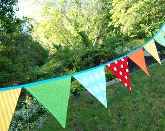Carnival Party, Circus Banner Bunting Birthday Flags, Party Decor -- for BBQ, Birthday, Summer Festival, Farmer's Market, July 4, Wedding