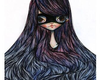 50% Off SALE 5x7 Fine Art Print - 'Nadia' - Small Giclee Print - Artwork by Jessica Grundy