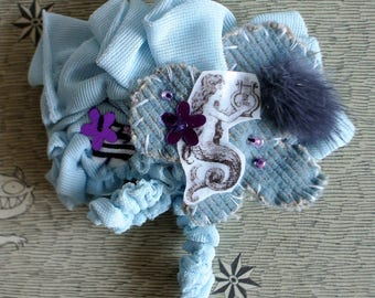 "Decorative hair ""Capernaum"" blue / Mermaid"