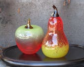 Blown Glass Apple & Pear ...