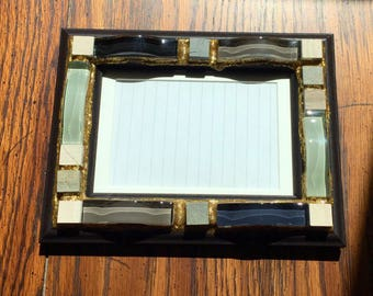 Stone and Glass Waves Mosaic Picture Frame (holds a 4 x 6 photograph)