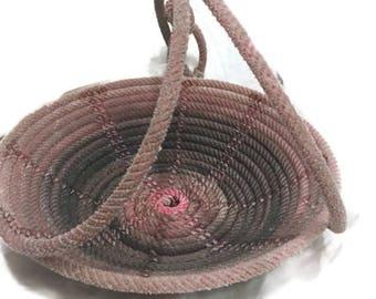 A10 pink Lariat Rope Basket