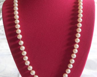 Signed Marvella Faux Pearls Vintage Necklace