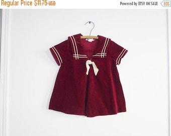 SALE // Vintage Burgundy Nautical Dress