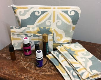Essential Oils Bag, PRIMROSE, Essential Oil Tote, Oils Bag, Oils Case, Oils carry case, Oils travel bag, oil storage, Aromatherapy case