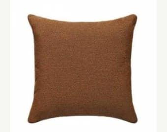 Brown Outdoor Pillow, Sunbrella Canvas Teak Outdoor Pillow, Sunbrella Throw Pillow, Teak Brown Cushion Free Shipping, 5488-0000