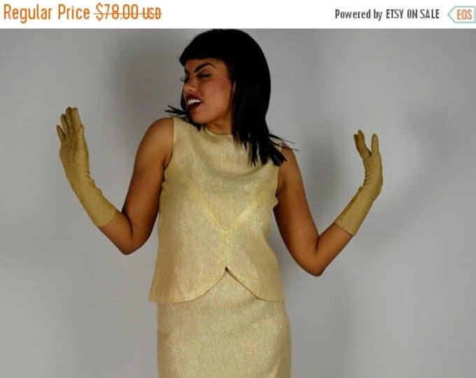 sale Vintage Long Dress, Gold Metallic , 50s Long Dress, 1950s Dress, Hollywood Glam Dress, Disco Dress, Motown Dress, Shiny Dress, Gold Dre
