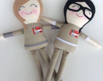 Piper and Alex - Handmade Dolls