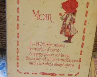 Sweet Vintage Holly Hobbie Mom Plaque