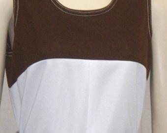 SUMMER SALE Vintage 1970's Flutterbye A Line Dress Medium Large
