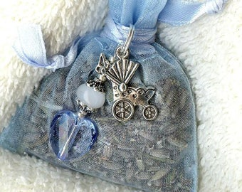 Lavender sachet & jewelry is a boy! -lav052
