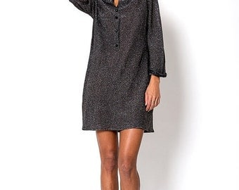 40% OFF The Charcoal Metallic Glitter New Years Eve Knit Dress