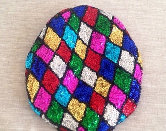 40% OFF The Vintage Multicolor Diamond Sequin Conductor Hat