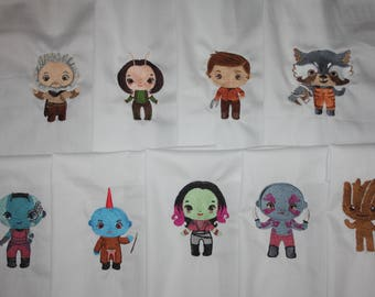 Guardians of the Galaxy Machine Embroidered quilt block set