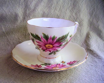 Vintage Colclough cup and saucer, England