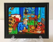 Print, van Gogh Print, Vincent van Gogh, van Gogh Art Print, Framed Print, Black Picture Frame, Small Gift Idea