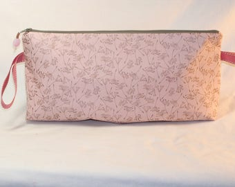Seedheads on Rosy Pink Anna Clutch