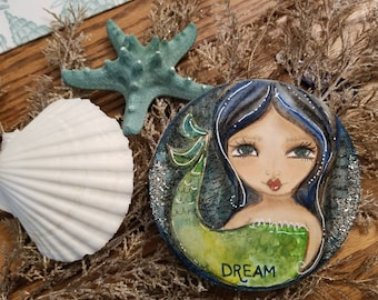 DREAM. Mini MERMAID art. Original art by Tiffanie Seiler