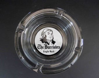 Vintage Ashtray from: The Barristers, Eagle Rock. Circa 1950's - 1960's.