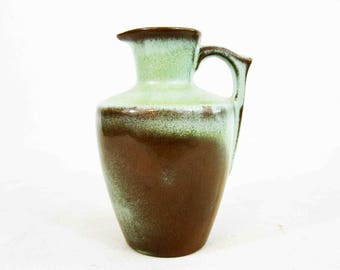 Vintage Frankoma Pottery Pitcher in Plainsman (Woodland Moss). Mold #838. Circa 1950's.