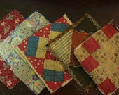 Mixed Group Of Antique Quilt Blocks ~ Lot of 5