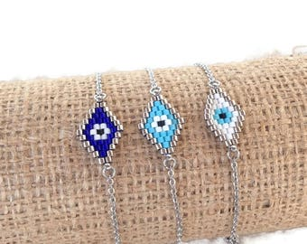 Evil eye bracelet - handmade jewelry - beaded evil eye – Greek jewelry – Gift for her - lucky eye - blue eye - Greece - Mati - Greco