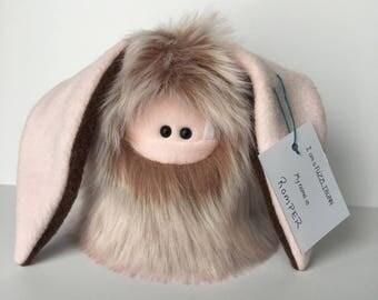 Easter Basket Soft Toy Plush - Easter Bunny Handmade Toy - Plush Bunny Stuffed Monster - Cuddly Bunny Doll - Fuzzlibunn - Cute Gift for Girl