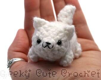 White Wolf Yami Amigurumi Plush Toy Stuffed Animal Crochet