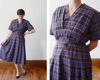 Plus Size 1940s Striped Day Dress - XL
