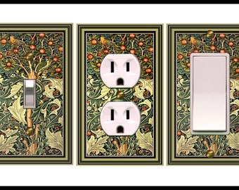 0520x COMBO of 3 Light Switches plates - Art Nouveau Morris Tree of Life - mrs butler Switchplate (can be purchased separately)