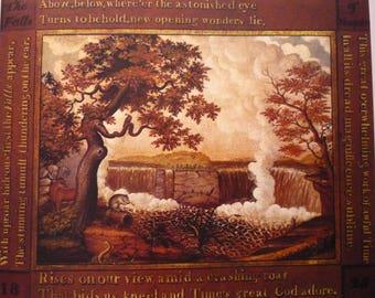 Falls of Niagra - Edward Hicks - Americana - framable  New World wonders waterfall scene