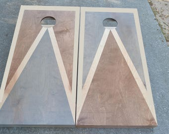 Custom Full Size Stained Cornhole Boards Set with Bags